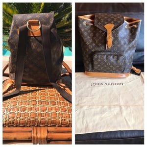 Louis Vuitton Bags - Louis Vuitton monogram Montsouris GM, Authentic